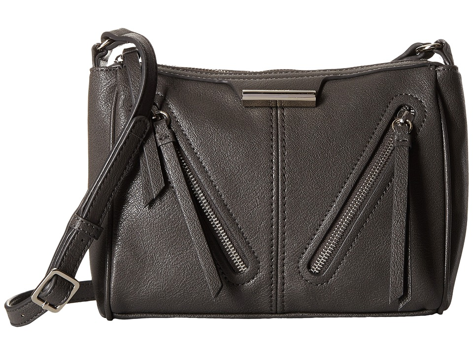 Nine West - Just Zip It Medium Crossbody (Graphite) Cross Body Handbags