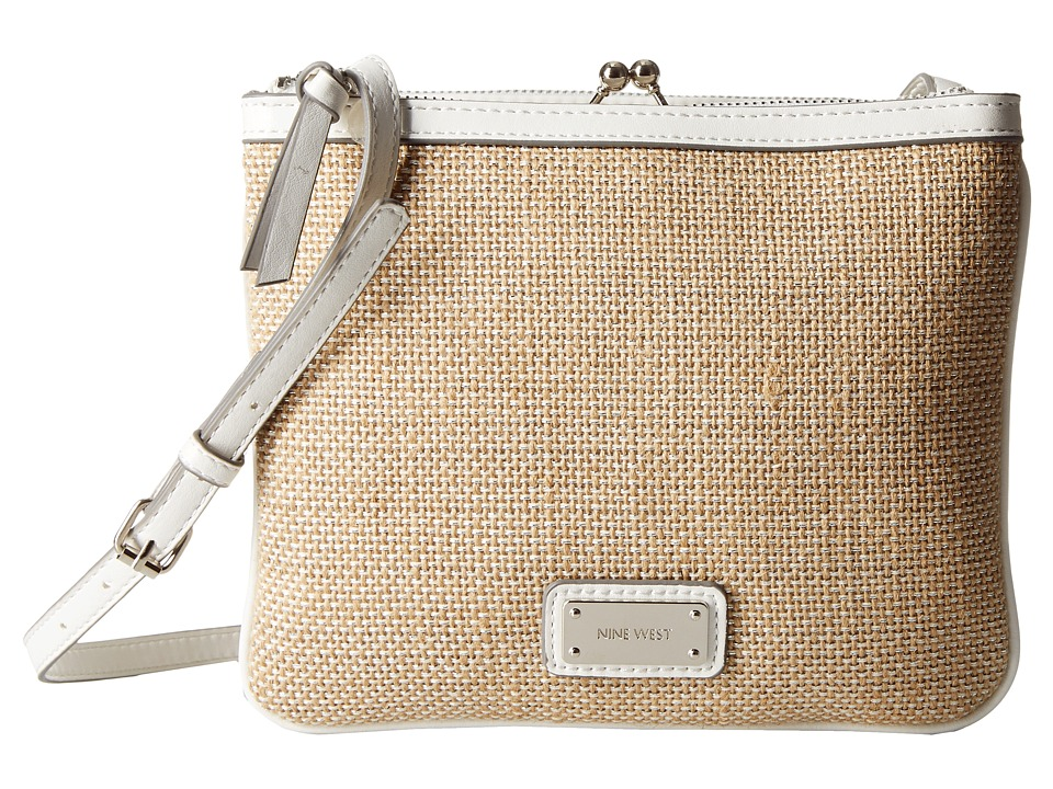 Nine West - Jaya Medium Crossbody (Natural Linen) Cross Body Handbags