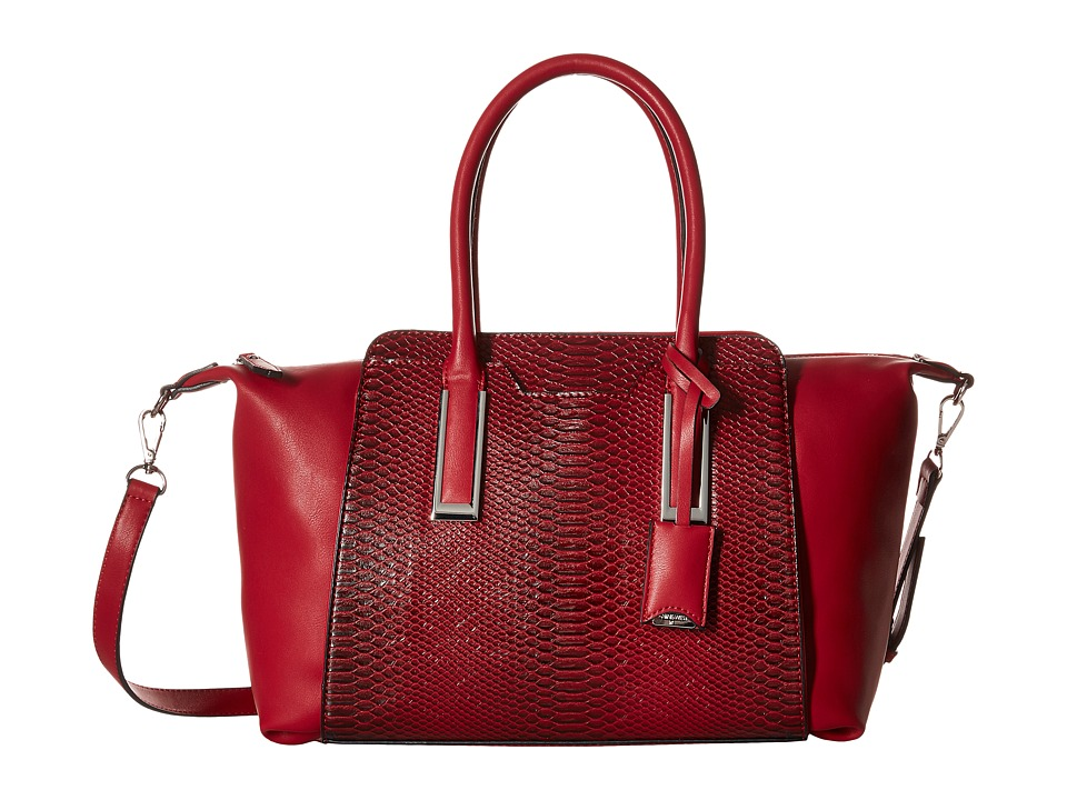 Nine West - Feeling Slouchy Medium Satchel (Cassis Red) Satchel Handbags