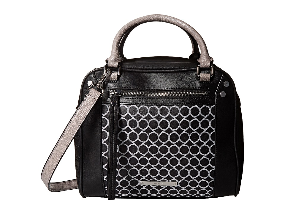Nine West - Fearless Remix Medium Satchel (Black/White) Satchel Handbags