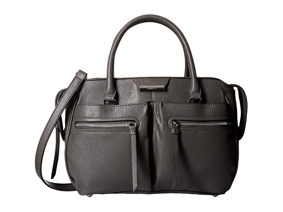 Nine West - Just Zip It Medium Satchel (Graphite) Satchel Handbags