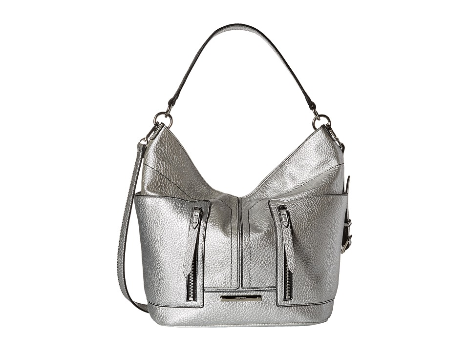 Nine West - Georgina Medium Hobo (Matte Silver) Hobo Handbags