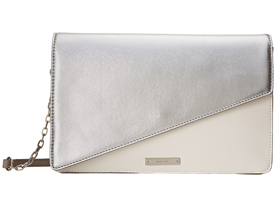 Nine West - Strong Angles Medium Clutch (Snow Petal) Clutch Handbags