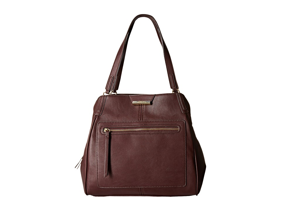 Nine West - Just Zip It Large Shoulder Bag (Mahogany) Shoulder Handbags