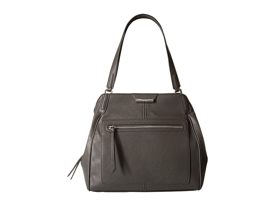 Nine West - Just Zip It Large Shoulder Bag (Graphite) Shoulder Handbags