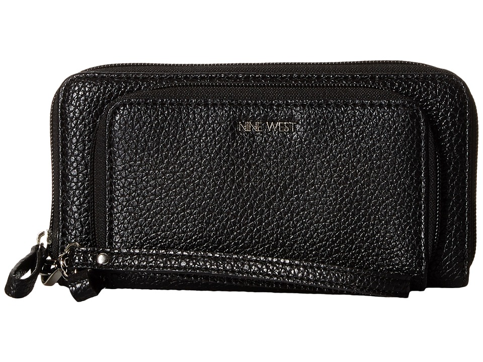 Nine West - Table Treasures Duo Zip Wristlet (Black) Wristlet Handbags