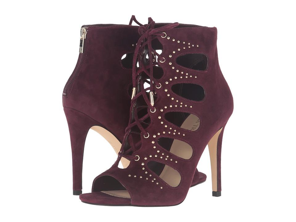 Ivanka Trump Dazy Dark Red Suede Shoes