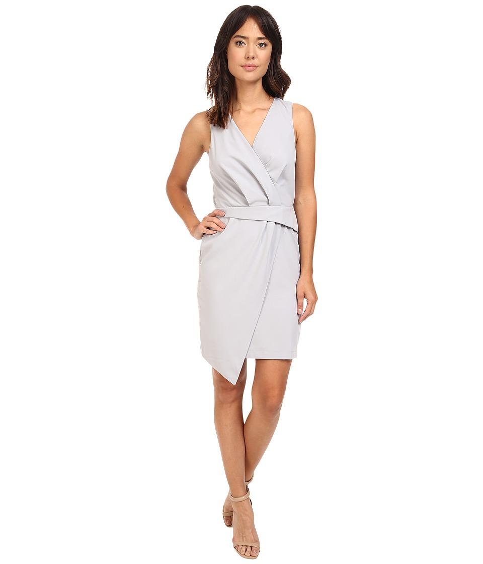 Adelyn Rae - Woven Sleeveless Surplice Sheath Dress (Grey) Women's Dress