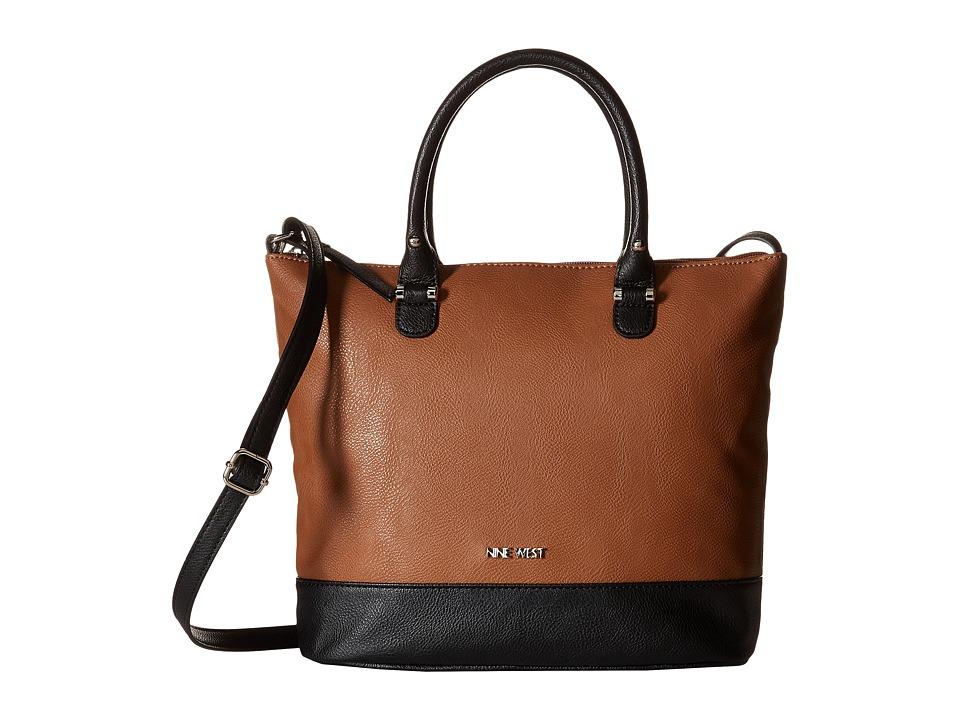 Nine West - Alyson Tote (Tobacco/Black) Tote Handbags