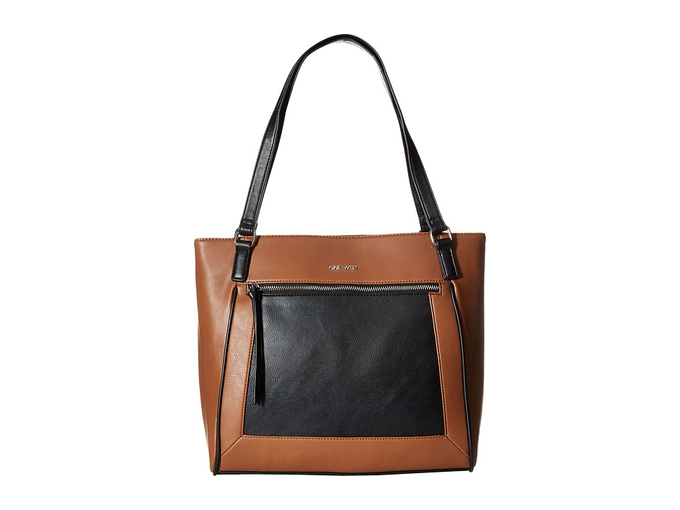Nine West - Here's A Treasure Tote (Tobacco/Black) Tote Handbags