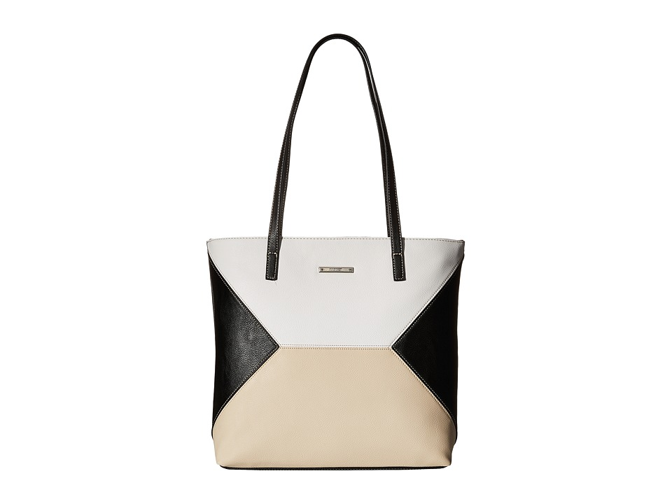 Nine West - Color Fit Tote (Black/Snow Petal/Toasted Oat) Tote Handbags