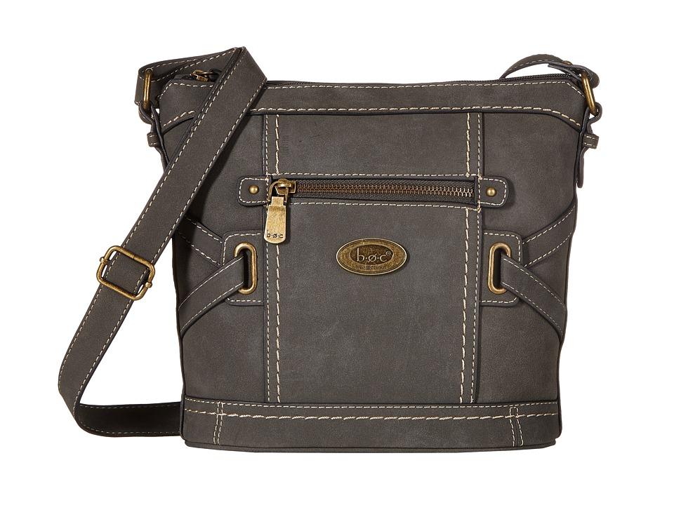 b.o.c. - Park Slope Crossbody (Charcoal) Cross Body Handbags