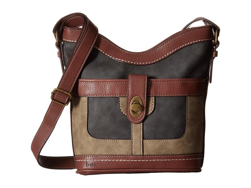 b.o.c. - Vandenburg Crossbody (Black/Mink/Walnut) Cross Body Handbags