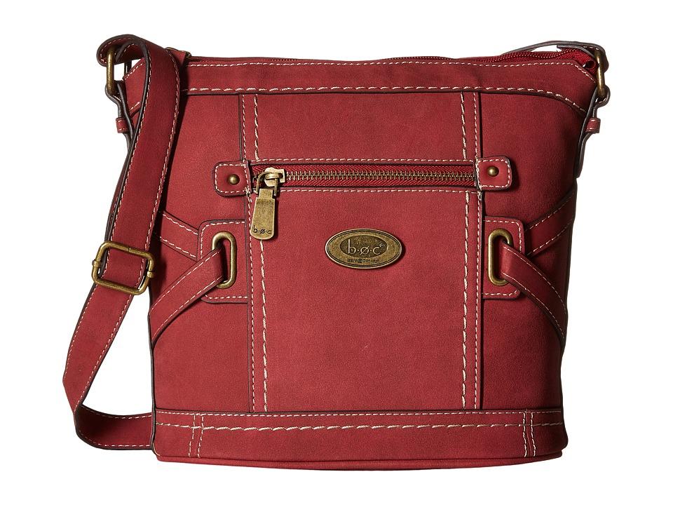 b.o.c. - Park Slope Crossbody (Burgundy) Cross Body Handbags