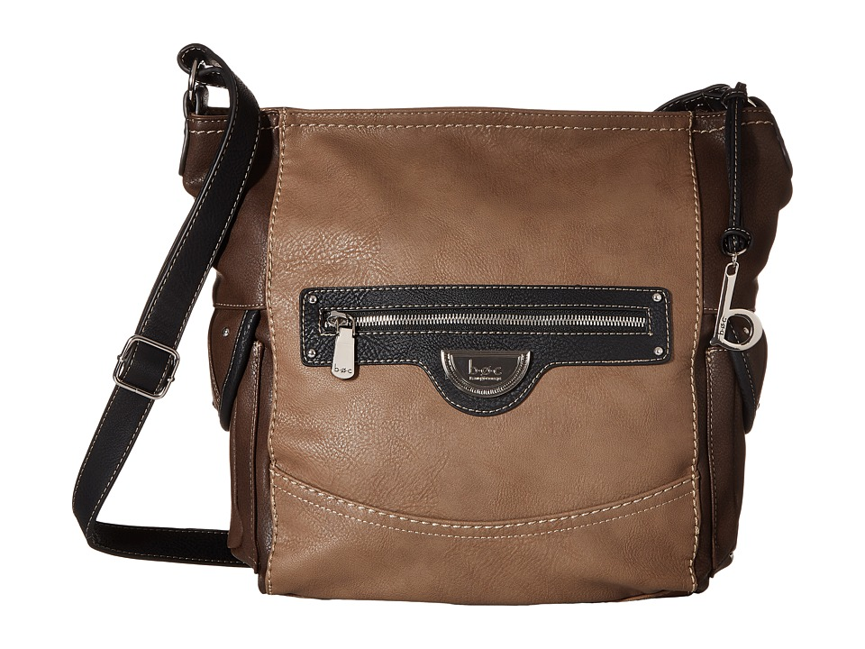 b.o.c. - Fairview Crossbody (Black/Mink/Walnut) Cross Body Handbags