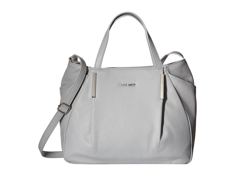 Nine West - Pleat Side Convertible Satchel (Light Cobblestone) Satchel Handbags