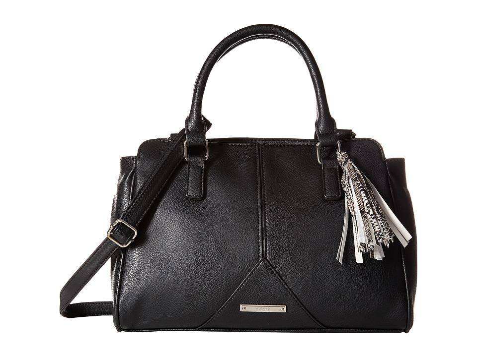 Nine West - Tasseled and Tied Satchel (Black/Brown Multi/Black) Satchel Handbags
