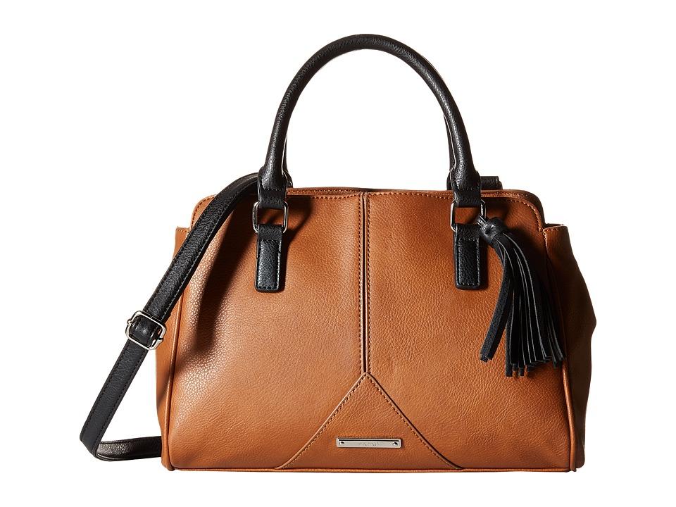 Nine West - Tasseled and Tied Satchel (Tobacco/Black) Satchel Handbags