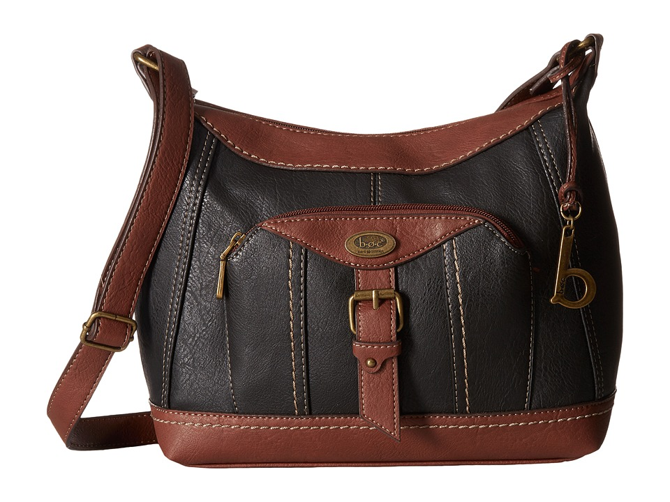 b.o.c. - Bal Harbour Power Bank Crossbody (Black/Walnut) Cross Body Handbags