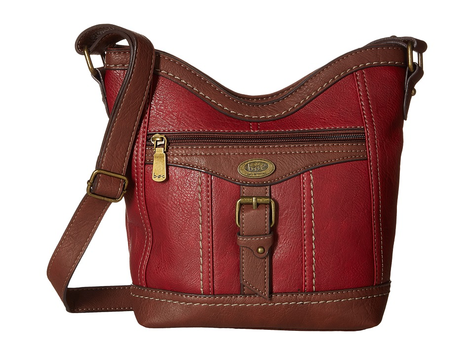 b.o.c. - Bal Harbour Power Bank Crossbody (Burgundy/Walnut) Cross Body Handbags