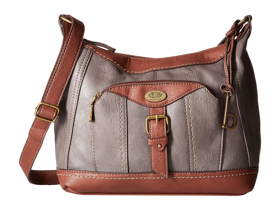 b.o.c. - Bal Harbour Power Bank Crossbody (Charcoal/Walnut) Cross Body Handbags