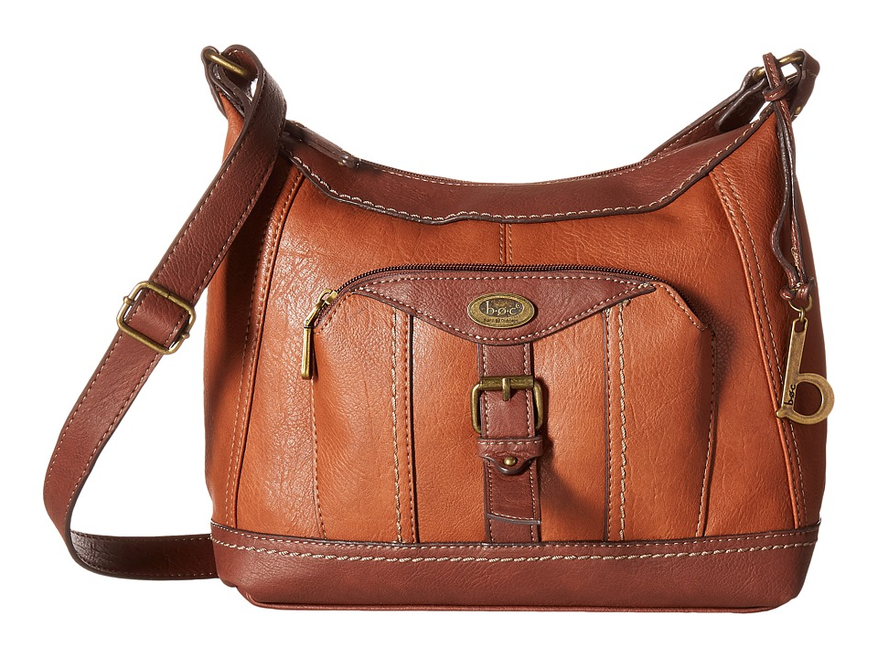 b.o.c. - Bal Harbour Power Bank Crossbody (Saddle/Chocolate) Cross Body Handbags