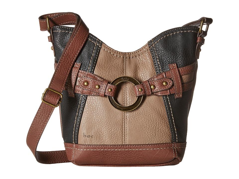 b.o.c. - Brimfield Crossbody (Black/Mink/Walnut) Cross Body Handbags