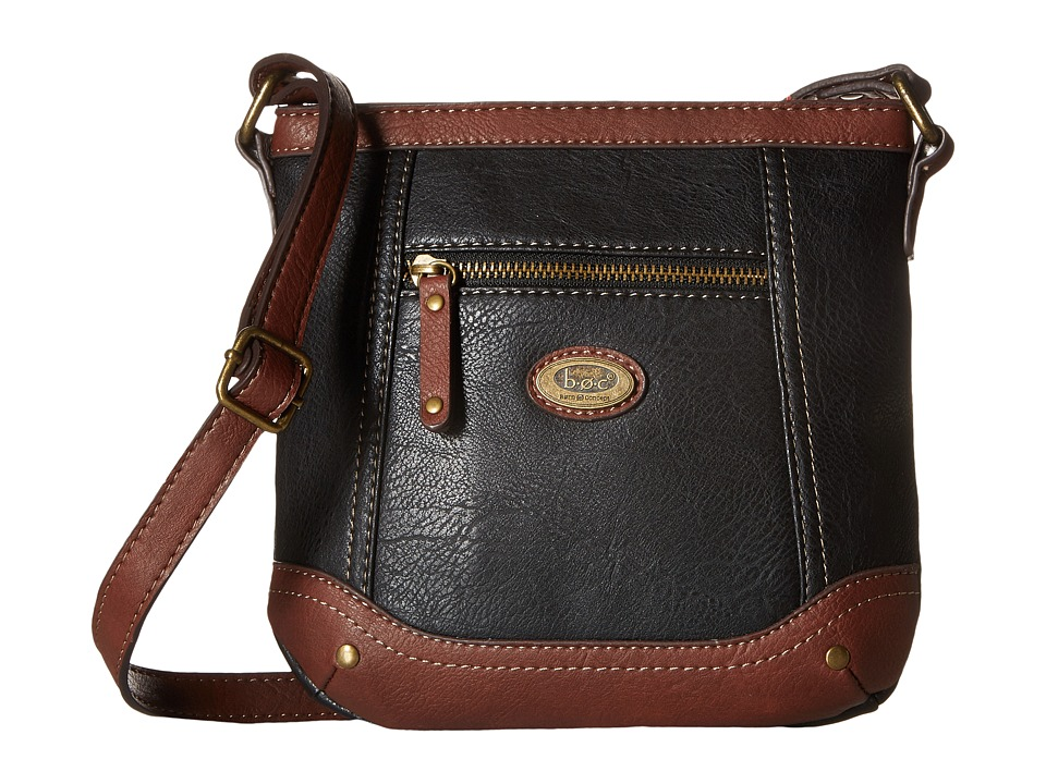 b.o.c. - Oberon Power Bank Crossbody (Black/Walnut) Cross Body Handbags