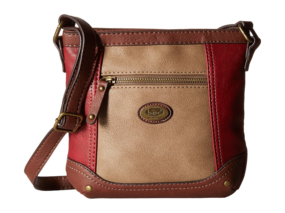 b.o.c. - Oberon Power Bank Crossbody (Burgundy/Mink/Walnut) Cross Body Handbags