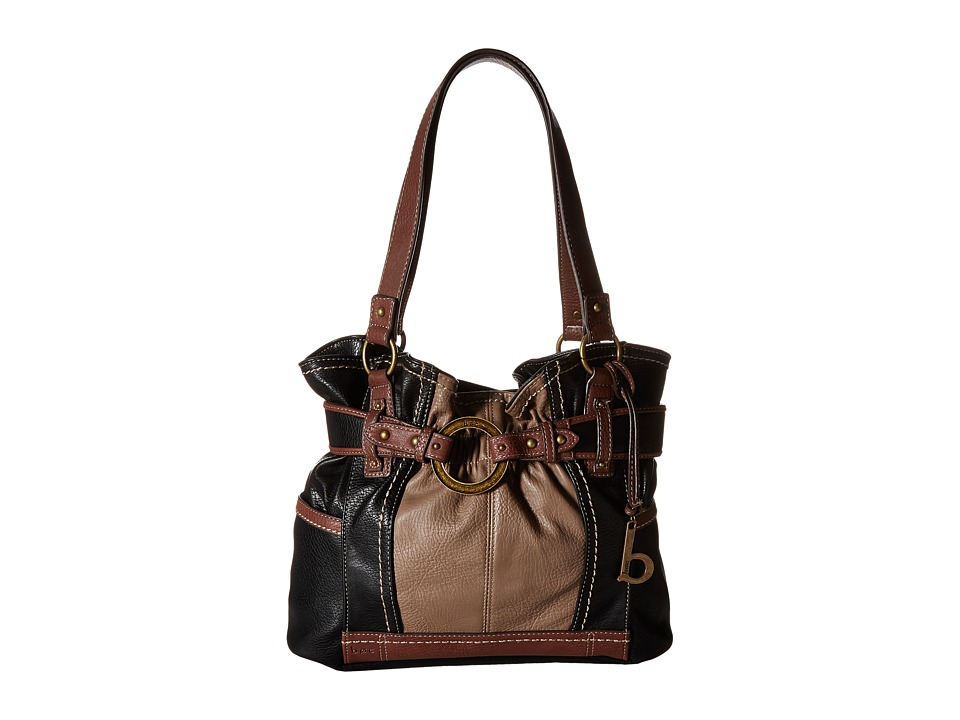 b.o.c. - Brimfield Gathered Tote (Black/Mink/Walnut) Tote Handbags