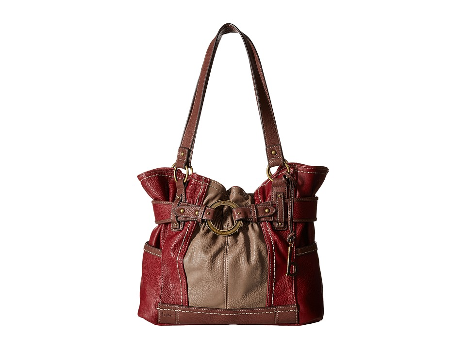 b.o.c. - Brimfield Gathered Tote (Burgundy/Mink/Walnut) Tote Handbags