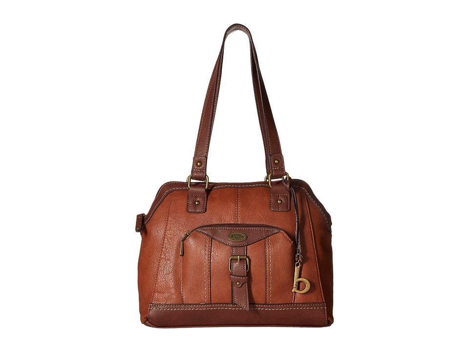 b.o.c. - Bal Harbour Power Bank Satchel (Saddle/Chocolate) Satchel Handbags