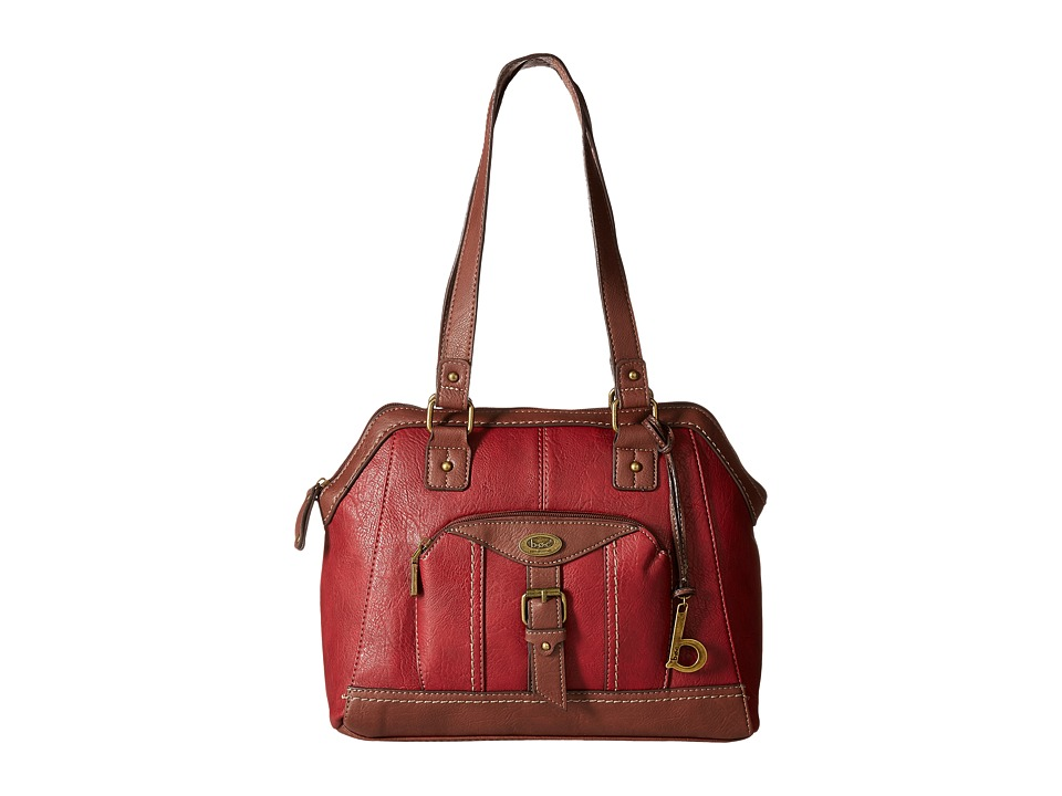 b.o.c. - Bal Harbour Power Bank Satchel (Burgundy/Walnut) Satchel Handbags