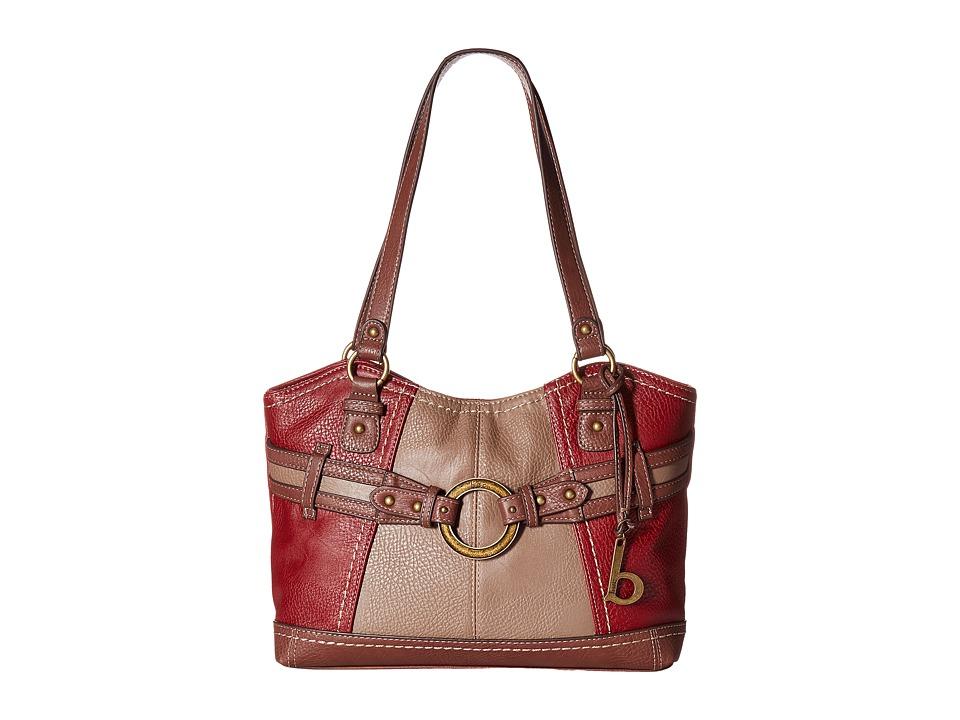 b.o.c. - Brimfield Scoop Tote (Burgundy/Mink/Walnut) Tote Handbags