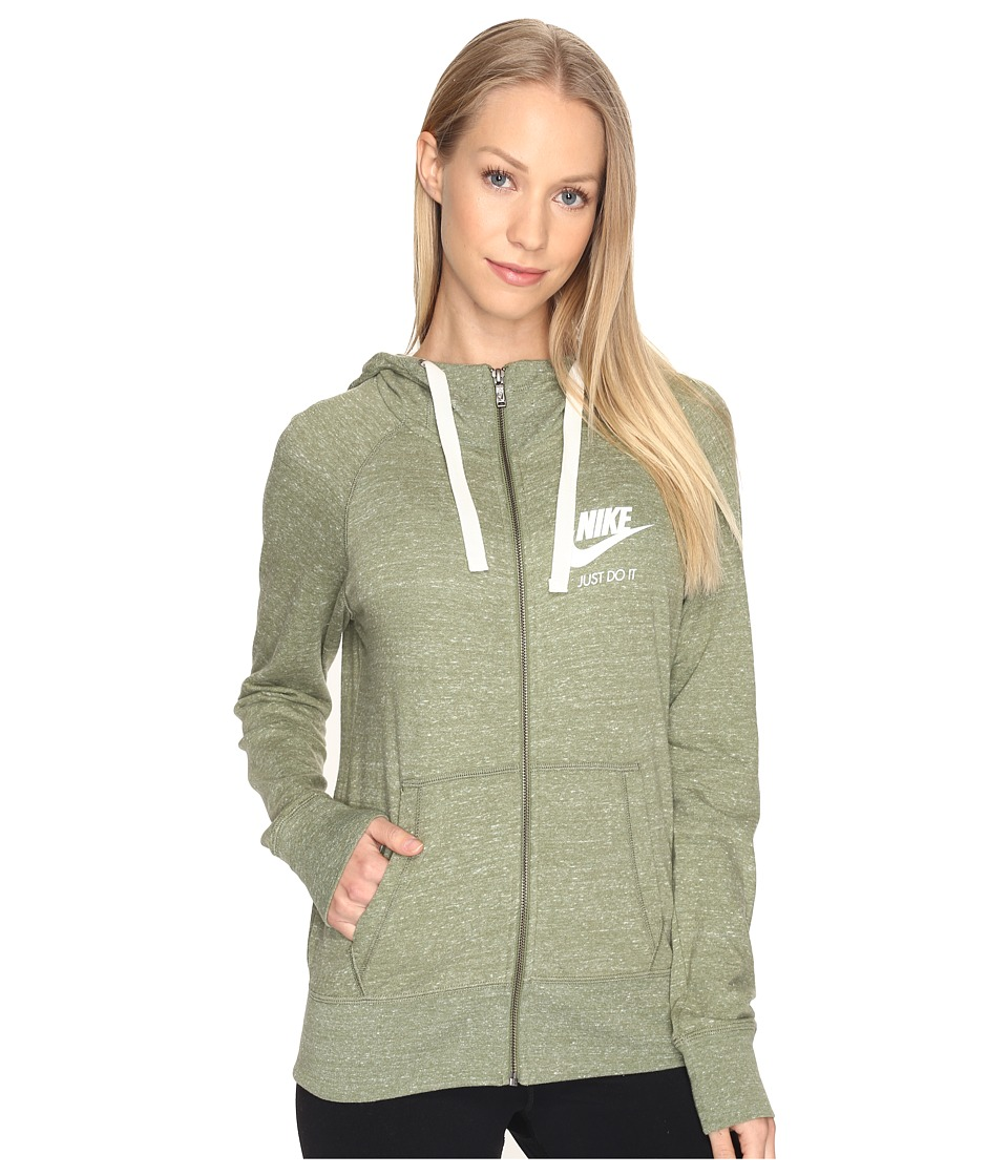 Nike - Gym Vintage Full Zip Hoodie (Palm Green/Sail) Women's Sweatshirt