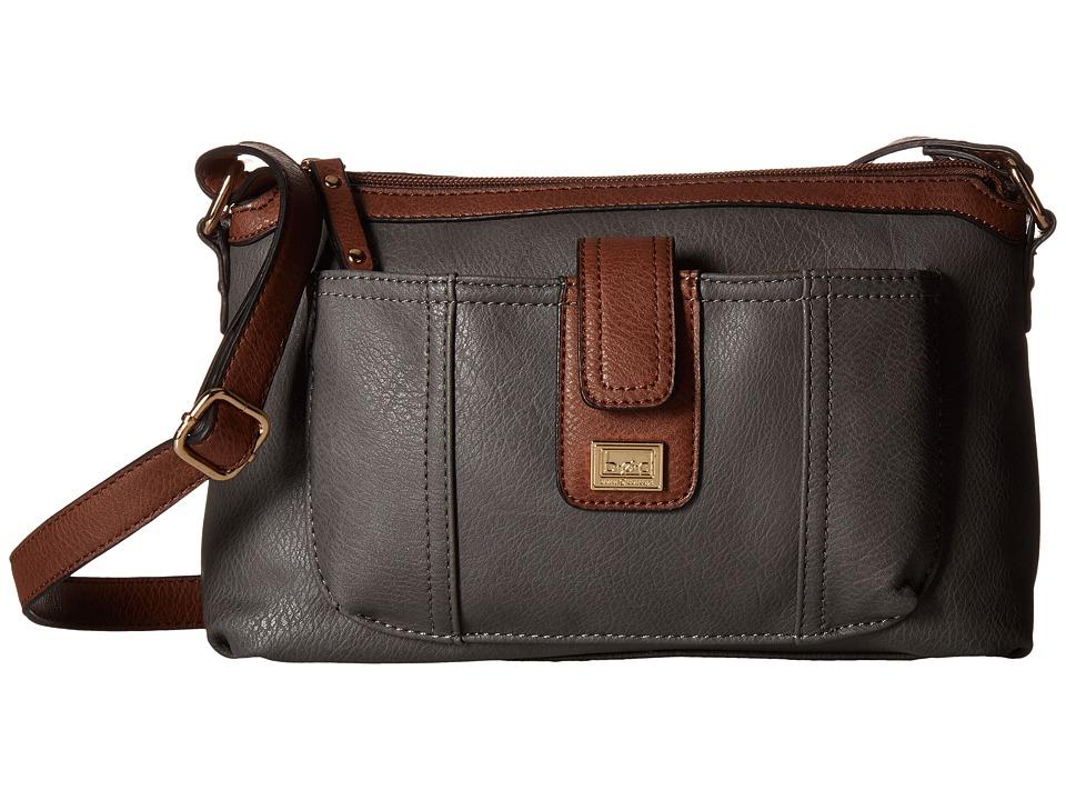 b.o.c. - Merrimac Crossbody w/ Wristlet (Charcoal) Cross Body Handbags