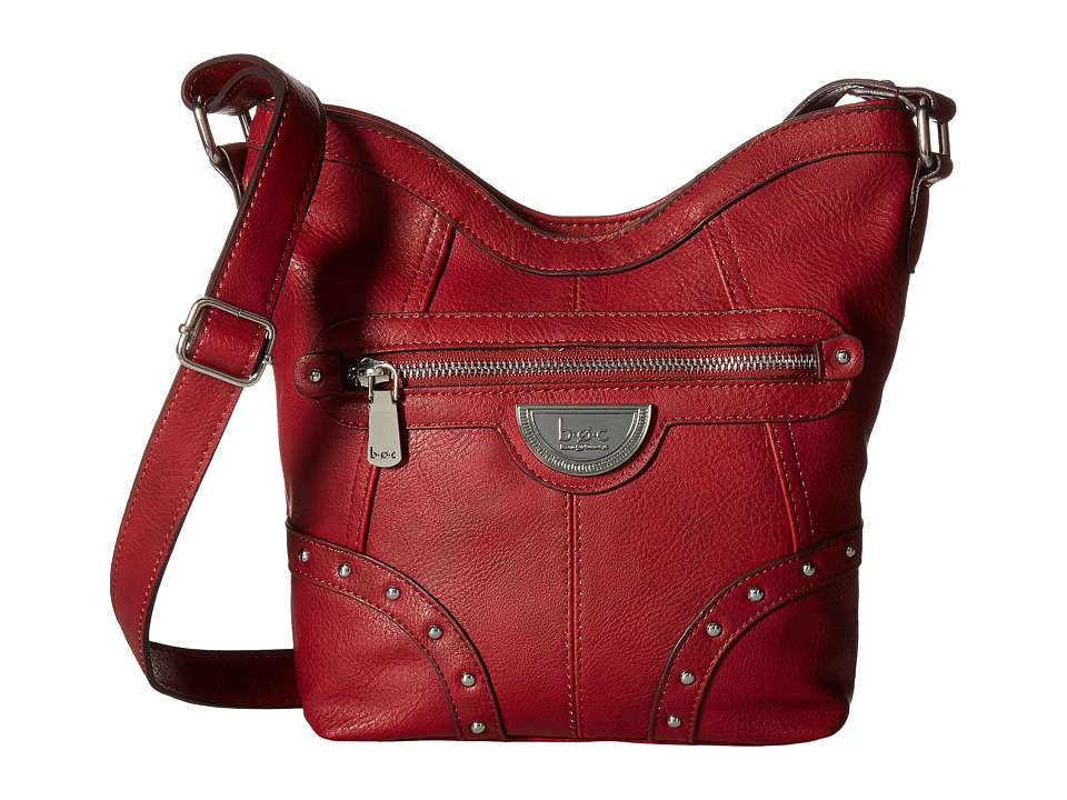 b.o.c. - Aurora Crossbody (Burgundy) Cross Body Handbags