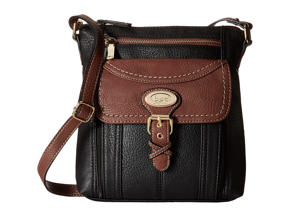 b.o.c. - Danford Crossbody Organizer (Black/Walnut) Cross Body Handbags