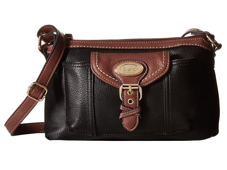 b.o.c. - Danford Crossbody w/ Bonus Wristlet (Black/Walnut) Cross Body Handbags
