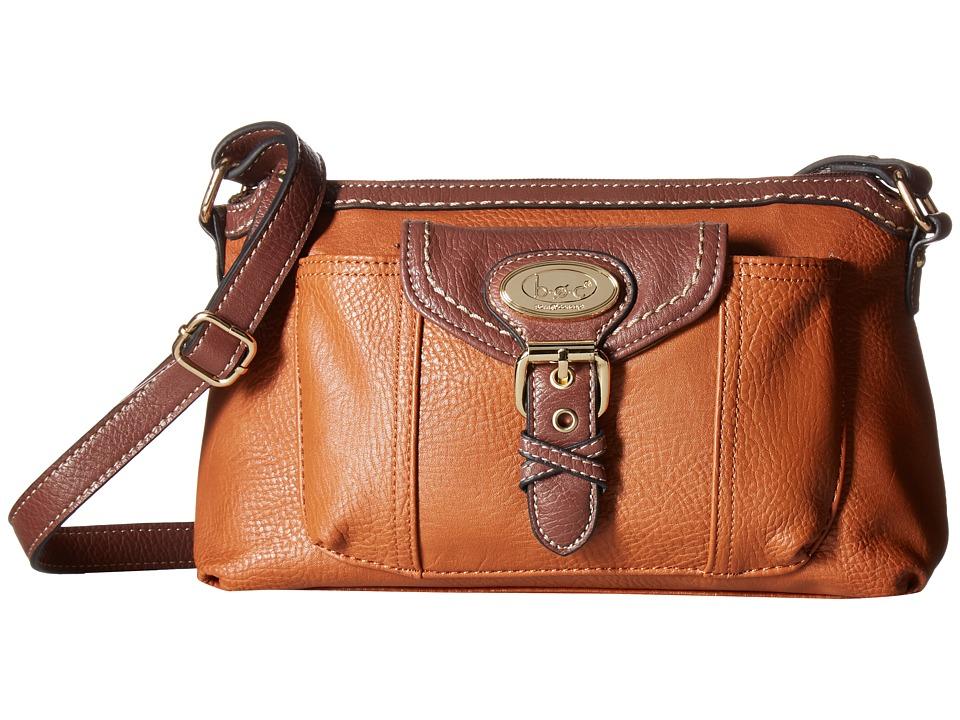 b.o.c. - Danford Crossbody w/ Bonus Wristlet (Saddle/Chocolate) Cross Body Handbags