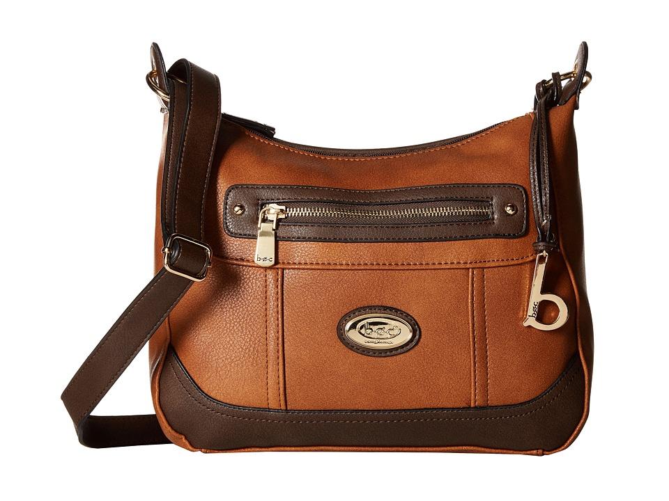 b.o.c. - Brookton Crossbody (Saddle/Chocolate) Cross Body Handbags