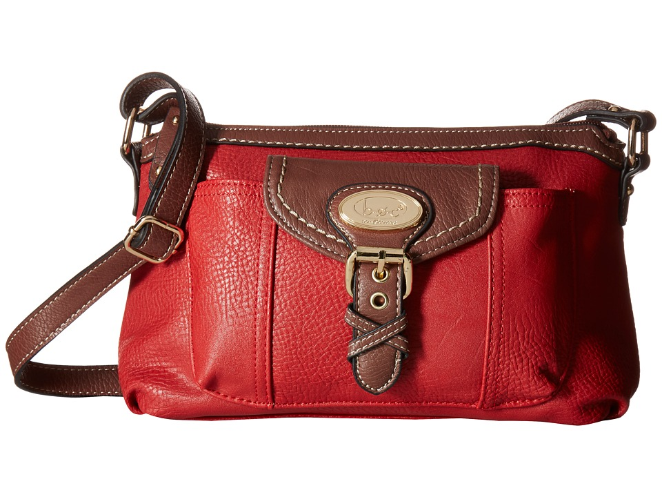 b.o.c. - Danford Crossbody w/ Bonus Wristlet (Pimento/Walnut) Cross Body Handbags