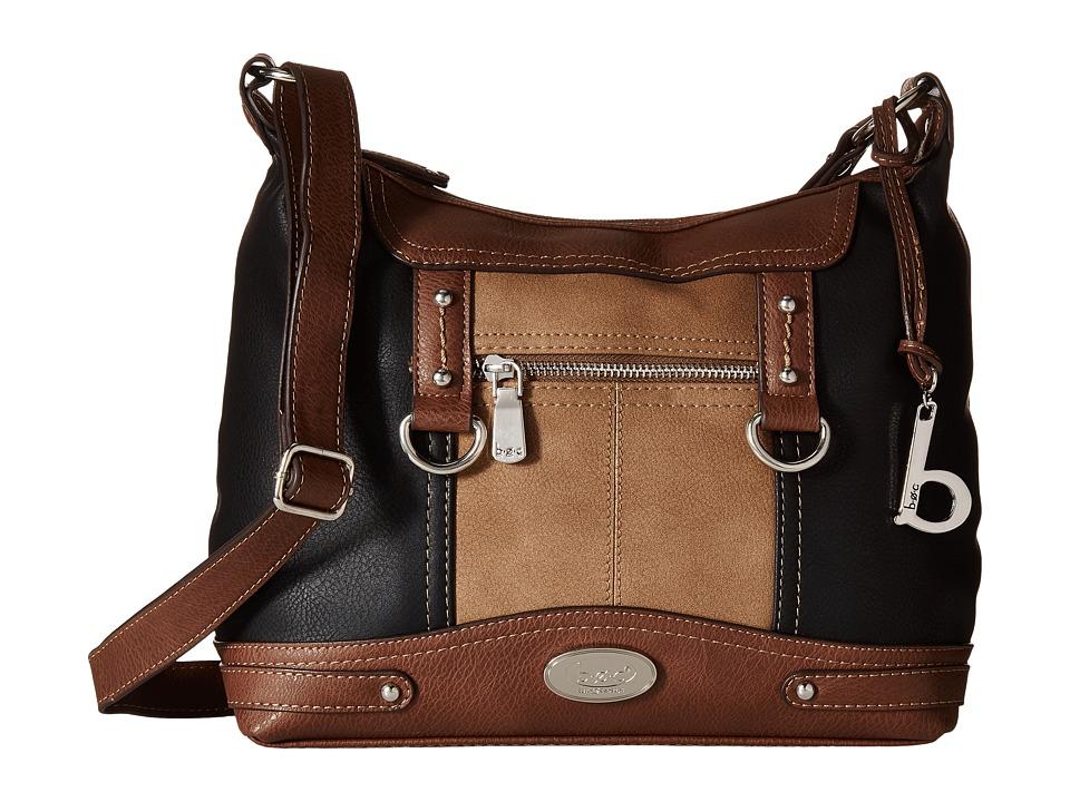 b.o.c. - Juntura Crossbody (Black/Mink/Chocolate) Cross Body Handbags