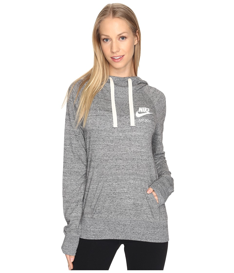 Nike - Gym Vintage Hoodie (Carbon Heather/Sail) Women's Sweatshirt