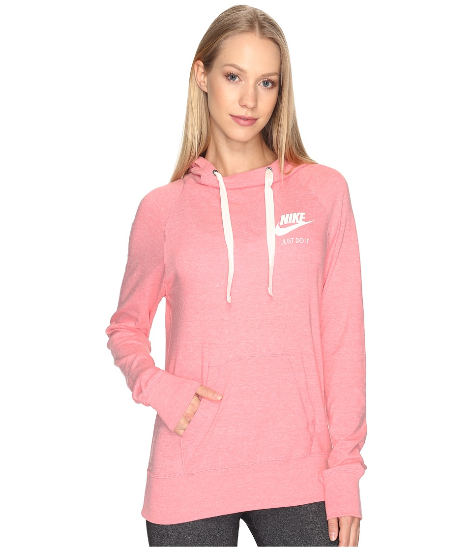 Nike - Gym Vintage Hoodie (Bright Melon/Sail) Women's Sweatshirt