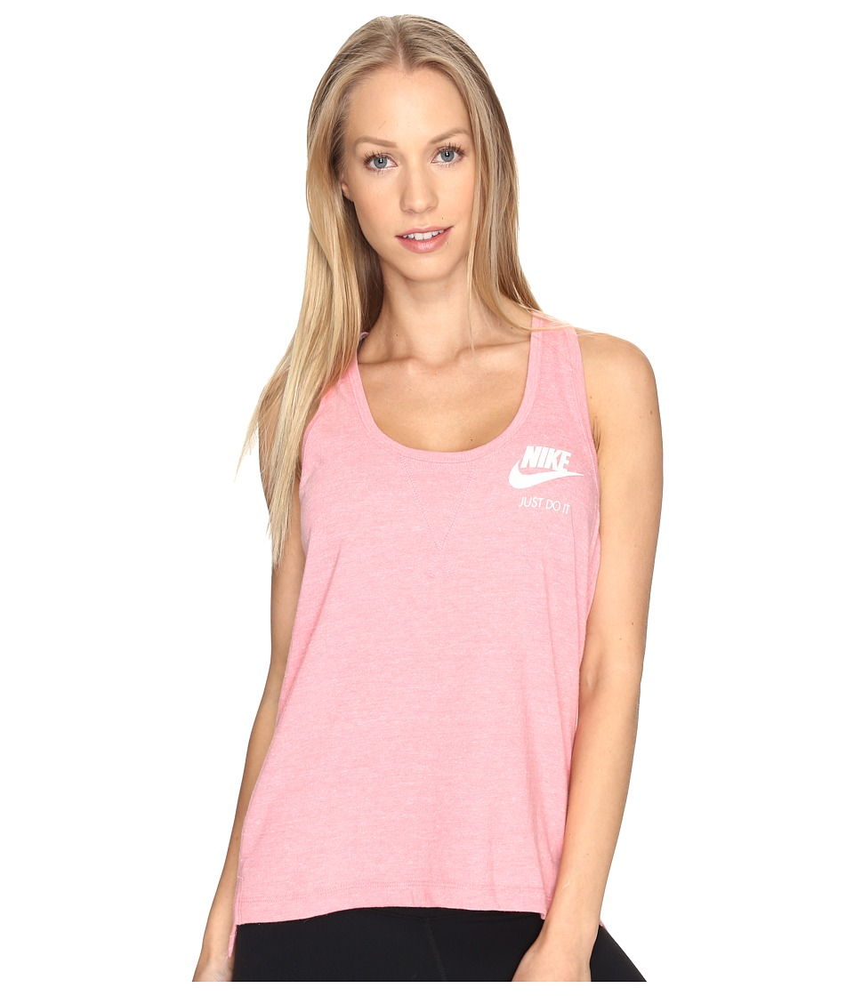 Nike - Gym Vintage Tank Top (Bright Melon/Sail) Women's Sleeveless