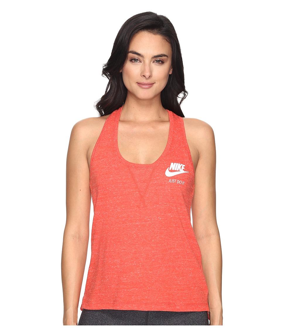 Nike - Gym Vintage Tank Top (Max Orange/Sail) Women's Sleeveless