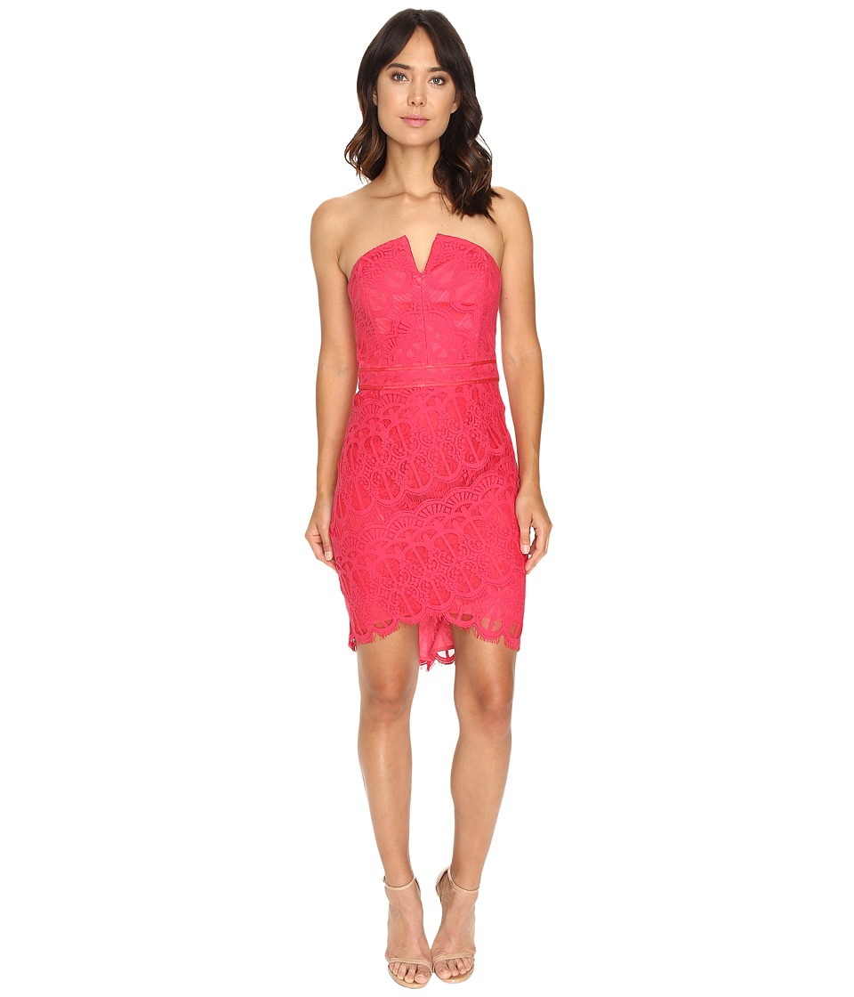 Adelyn Rae - Lace Dress with Hi-Low Hem (Rose Pink) Women's Dress