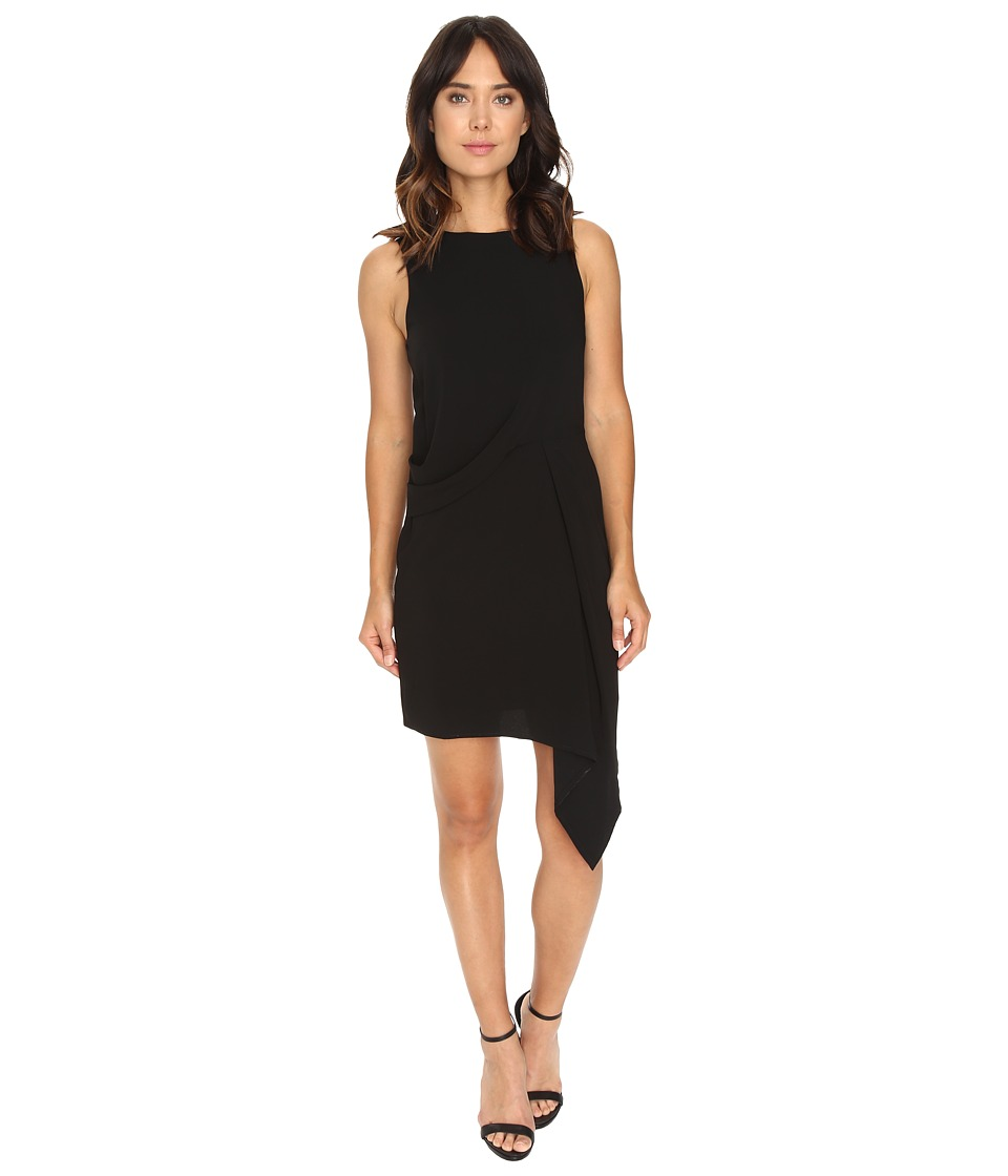 Adelyn Rae Sheath Dress Asymmetrical Skirt (Black) Women