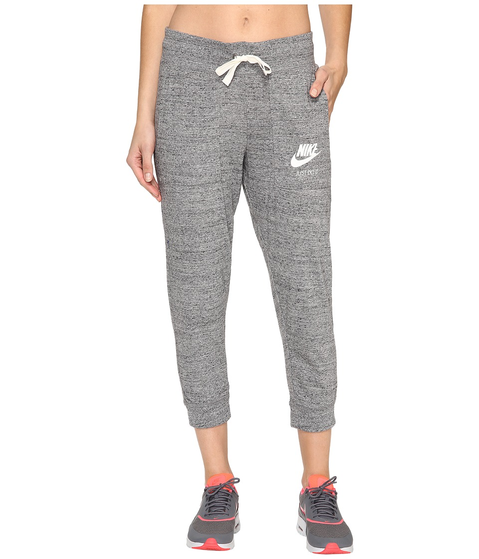 Nike - Gym Vintage Capris (Carbon Heather/Sail) Women's Capri